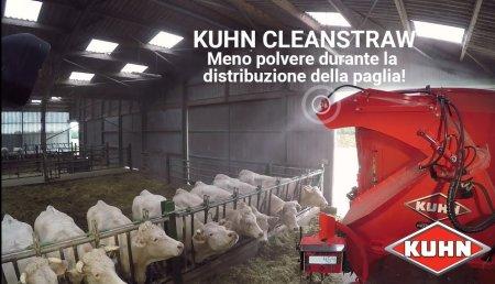 Figan 2019 premia el sistema Cleanstraw de Kuhn que reduce el polvo en el ambiente tras el empajado