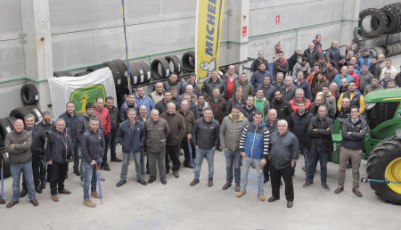Neumáticos Tino y Michelin Demostración en Santa Comba (A Coruña)