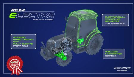 Landini REX4 Electra Evolving Hybrid recibe el Premio EIMA Novedad Técnica 2020 21