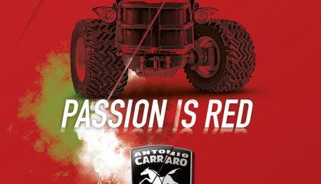 """Calendario Antonio Carraro 2019 """"Passion is Red"""""""