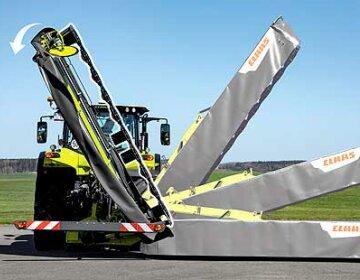 CLAAS presenta la DISCO 4400 CONTOUR con 4,20 m de anchura de trabajo y plegado vectorial