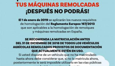 ¡MUY IMPORTANTE! Si tienes algún vehículo remolcado documentado y no lo has matriculado antes del 31/12/2018, ¡DESPUÉS NO PODRÁS!