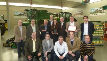 John Deere premia al concesionario Tajada Barrio por su plan de marketing postventa
