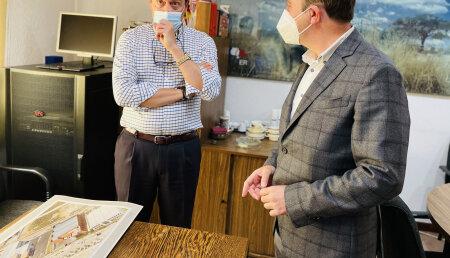 Imprefil recibe la visita del alcalde de Tres Cantos, Jesús Moreno García
