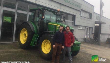 Agrícola Noroeste Entrega john Deere 6115MC a José Manuel lamas garcia de bardaos - cerceda. A Coruña
