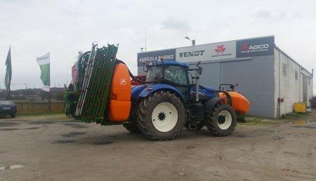 Agrícola Suárez, entrega el primer pulverizador de Amazone de 28 metros, con sistema de nivelación automático, guiado automático y corte de tramos automático
