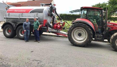 Agricola Matova entrega a Castro SC la cisterna Herculano de 10000L.