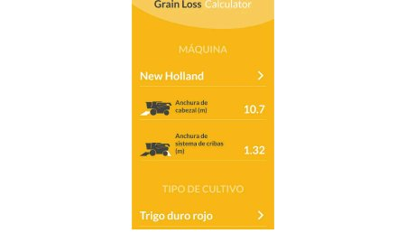 New Holland lanza la aplicación Grain Loss Calculator para facilitar un ajuste óptimo de la cosechadora