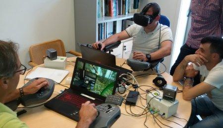 La realidad virtual entrena a los trabajadores del sector forestal gallego en el manejo de maquinaria forestal