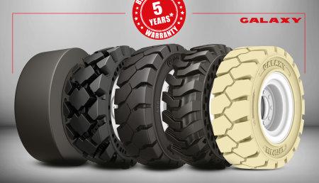 La mejor en su clase: nueva garantía de 5 años para toda la gama de neumáticos macizos de Galaxy