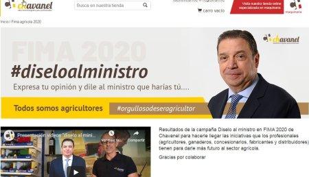 """CHAVANEL LANZA UNA WEB CON LA CAMPAÑA """"DÍSELO AL MINISTRO"""""""