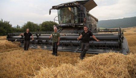 Fendt presenta en España su cosechadora Ideal.