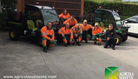 Agrícola Noroeste  entrega John Deere GATOR TE- ELECTRICO a EMULSA Medioambiente. Ayuntamiento de Gijón