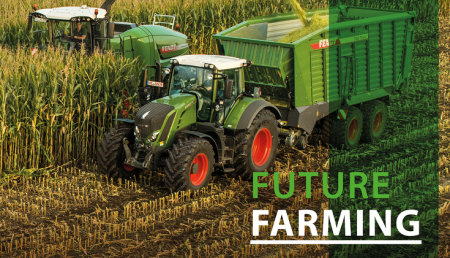 Fendt Future Farming:  cadena de recolección optimizada mediante la app Fendt Logistic
