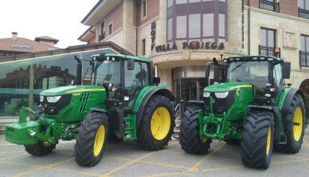 Demostración de Comercial Agricola Castellana en Cantabria con tractores JOHN DEERE y con la colaboración de Michelin y Neumáticos Hoznayo.