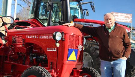 Maximino Míguez Salgado un apasionado restaurador de tractores