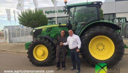 Agricola Noroeste entre John Deere  6145R  AutoPowr 50 a Julian de San Pedro de Bercianos (Leon)